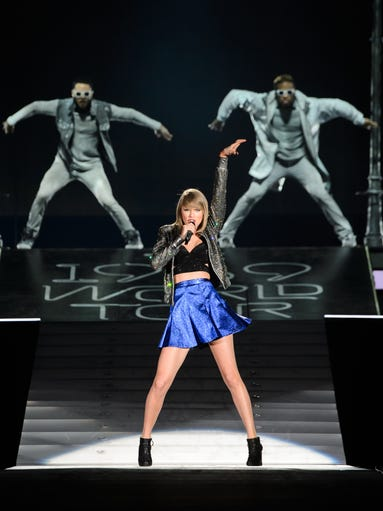 Taylor Swift performs on stage during the 1989 World