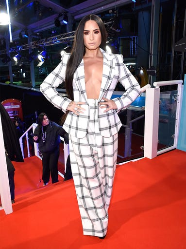 Demi Lovato attends the MTV Erope Music Awards 2017