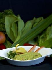 Guacamole with cilantro, lime, sun dried tomato and