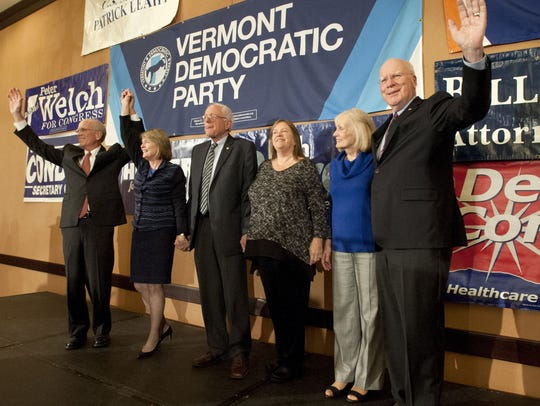 The Vermont congressional delegation, from left, Rep.