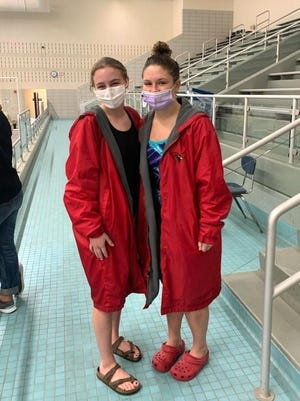 Coldwater's Charlotte Calhoun and Mia Rzepka both qualified for the MHSAA State Dive Finals with their efforts at Regionals Thursday.