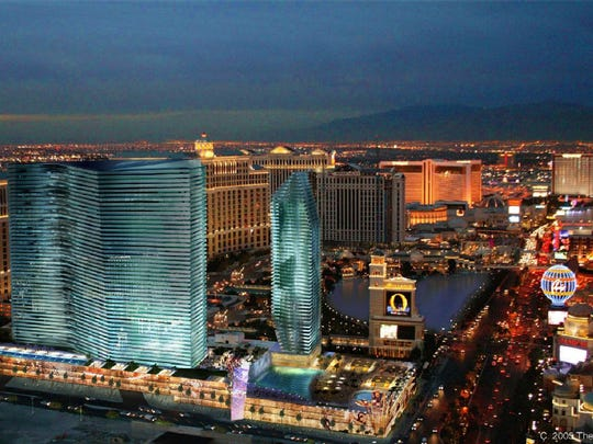 This undated image provided by the Cosmopolitan shows it. Deutsche Bank AG is finally free of the Cosmopolitan after selling the high-rise complex on the Strip to Blackstone Real Estate Partners VII for $1.7 billion, according to a statement Thursday May 15, 2014.