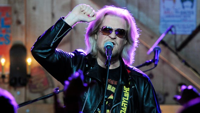 Rocker Daryl Hall performs with Hall and Oates at Daryl's House in Pawling in October 2014.