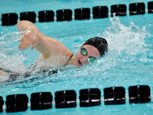 York Suburban's Carson Gross swims the 200-yard freestyle