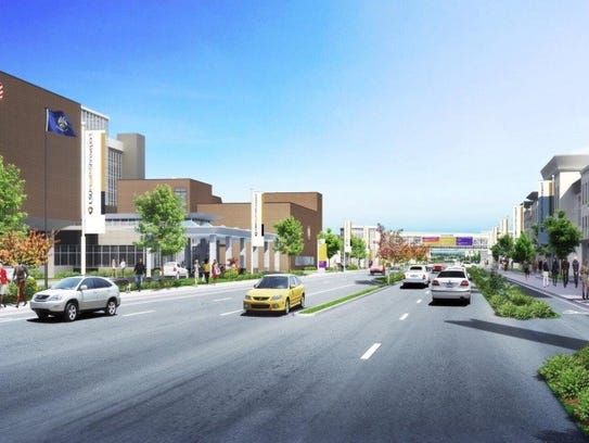 Rendering of potential Shreveport mixed-use medical