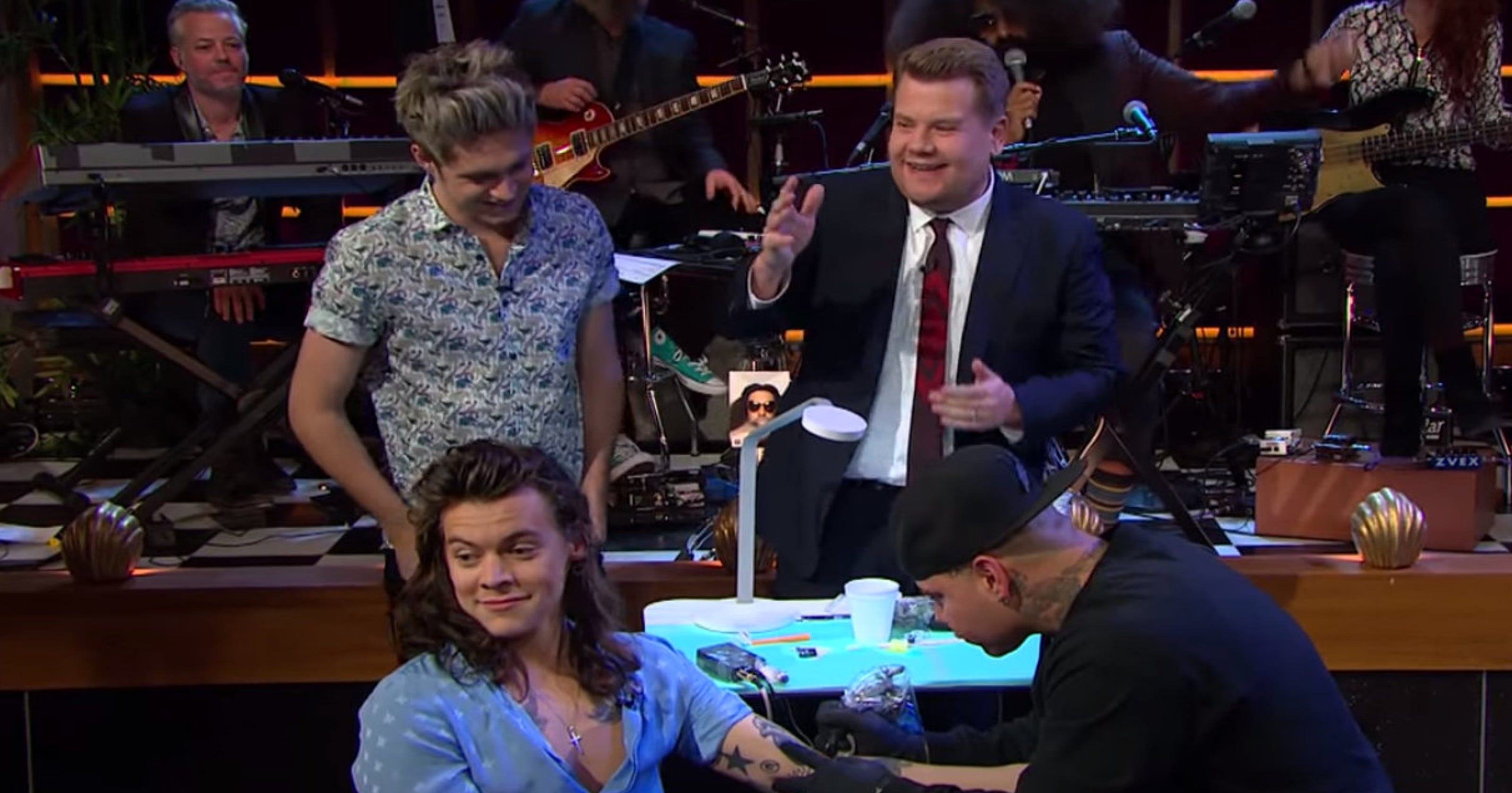 James Corden And One Direction Played Tattoo Roulette And We All Won