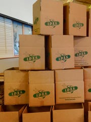 Workers assembled individual meal packs of rice, soy and other nutrients that will be used for oversees hunger relief.