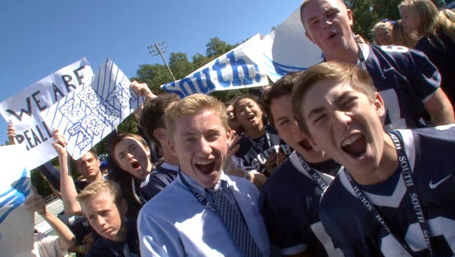 Middletown South students are shown during the taping of the Red Zone Roadshow at Middletown South High School Monday, October 12, 2015.