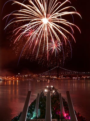 You can watch the New Year's Eve fireworks shows from the Battleship New Jersey in Camden.