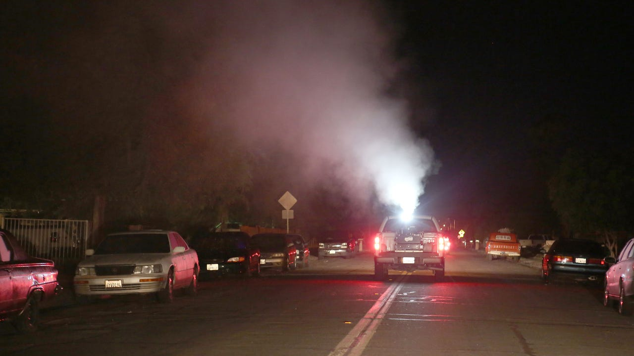 An invasive mosquito species was recently discovered in Cathedral City and CV Vector Control is fogging for them.