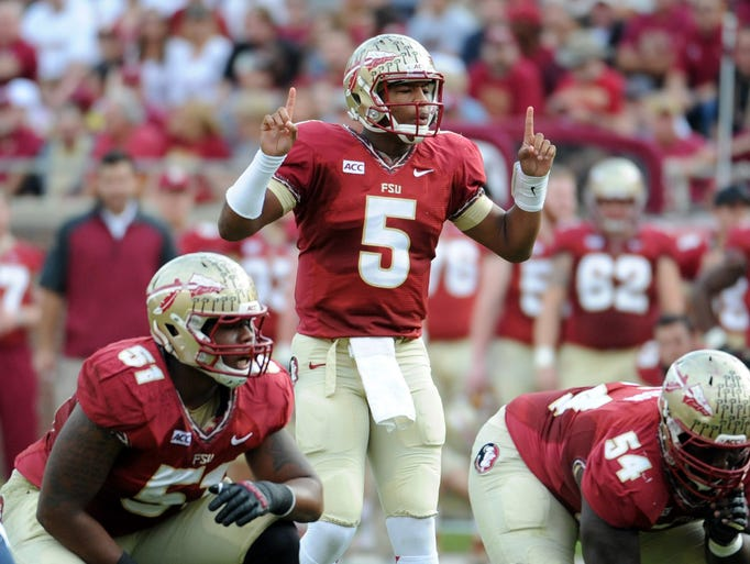 Florida State QB Jameis Winston completed 19 of 21 passes for 277 yards and two touchdowns in the Seminoles' 59-3 win over Syracuse.