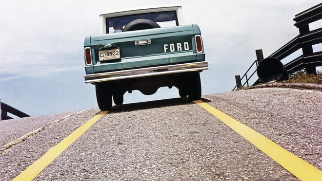 This photo provided by Ford Motor Co. shows a 1967 Ford Bronco T67-515. Ford is reviving the Bronco SUV brand in an effort to cash in on the rugged U.S. off-road vehicle market now owned by Jeep. Ford believes the Bronco name will evoke good memories from its off-road heritage during a three-decade run that ended in 1996.