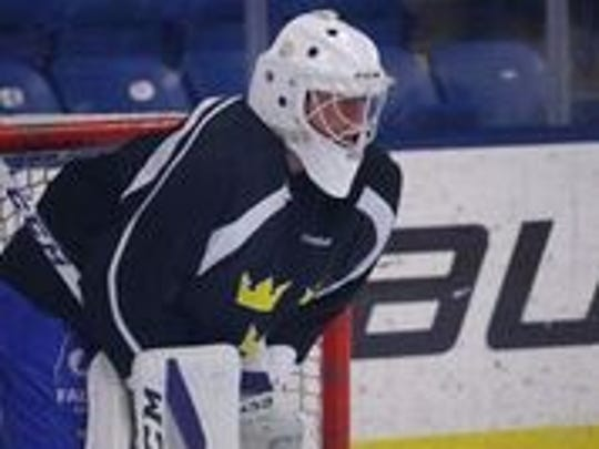 Red Wings draft pick Filip Larsson is the top goalie prospect in the organization.