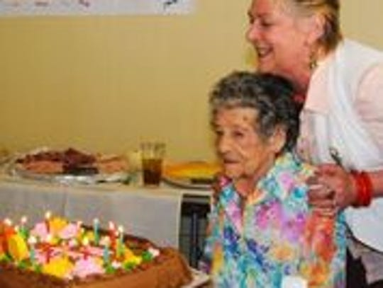 Maxine Stanich celebrated her 90th birthday with friends