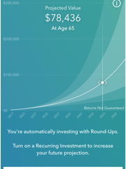 Screenshot of Acorns personal finance app