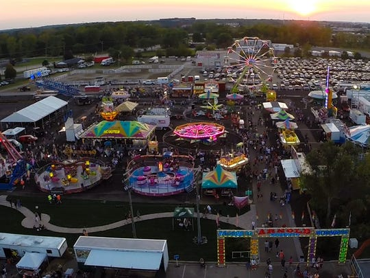 The Arnold Amusements midway will feature carnival rides, games and food.