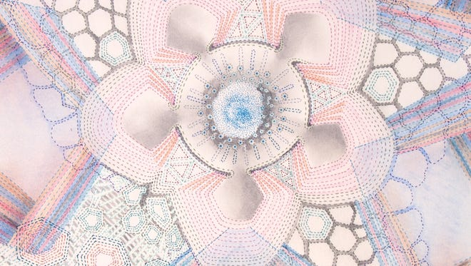 Local resident Sarah Morejohn will be displaying abstract works in pencil that are inspired by science.