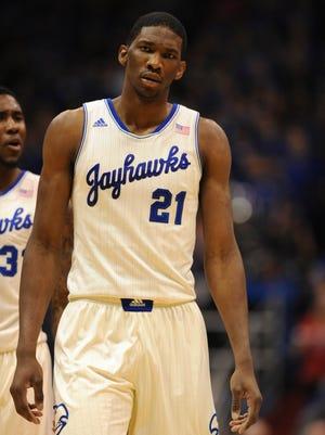Kansas center Joel Embiid has taken the fore on NBA draft boards this season.