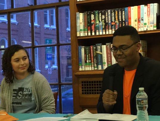 Student leaders speak at Teen Town Hall