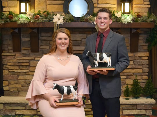 Joseph Opsal of Dane County and Carley Krull of Jefferson County claimed the most prestigious honor, being named Outstanding Holstein Boy and Girl.