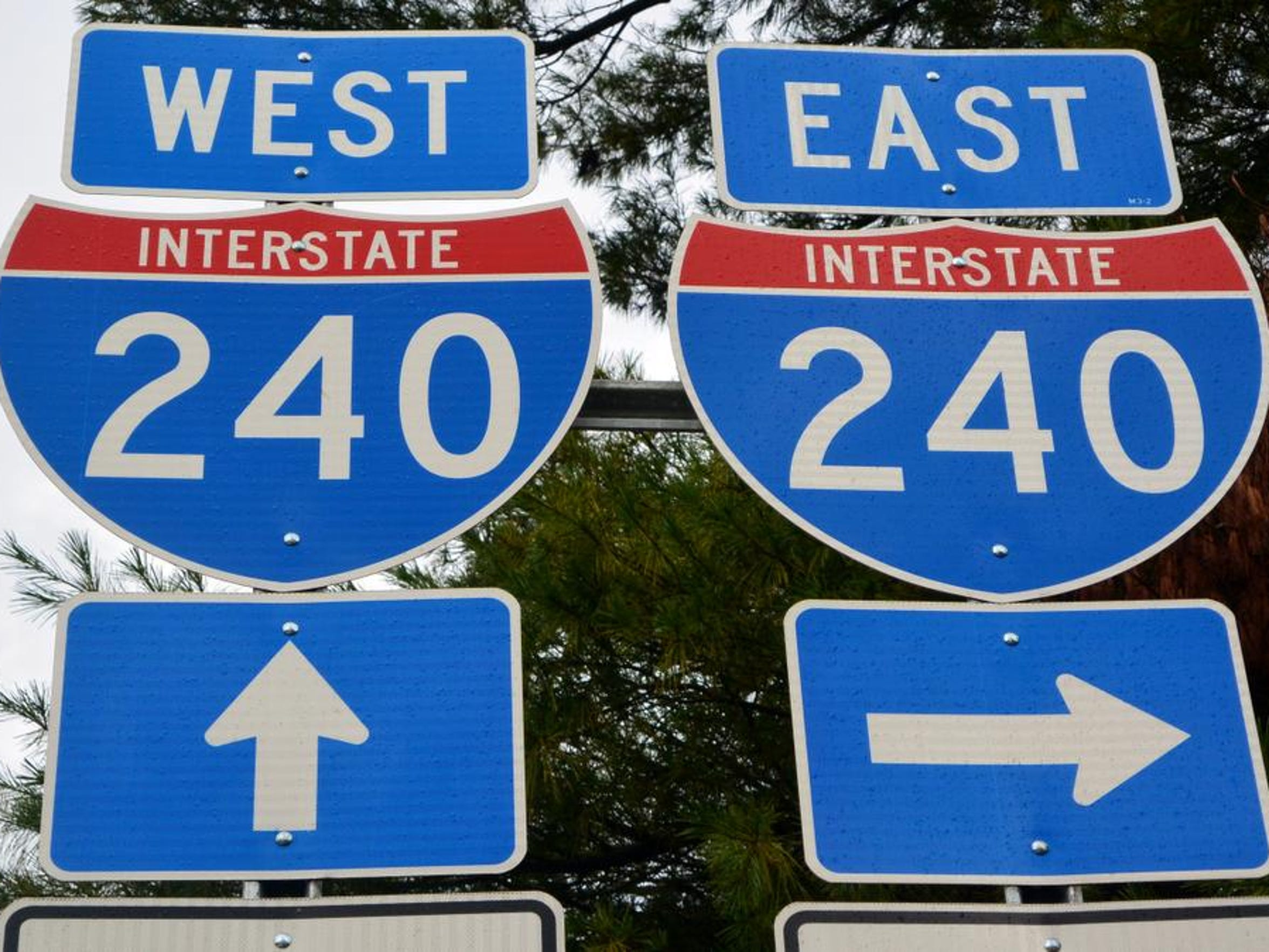 Interstate 240 is one of several area highways where
