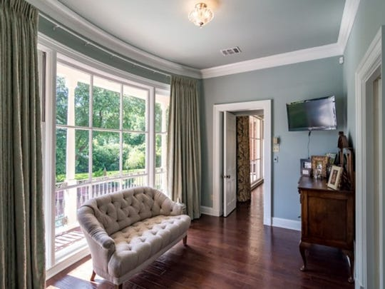 The sitting room off the master suite at 7030 East