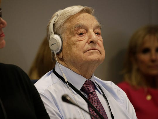 Investor George Soros attends a Private Sector CEO