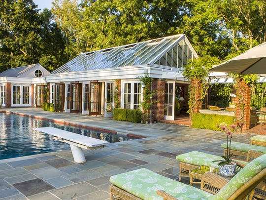 """The pool area at an estate in Scarborough. David Turner says high-end buyers are looking for many things when it comes to choosing their home, but privacy is paramount. """"The $5 million-plus buyer wants a shelter from the world and refuge."""""""