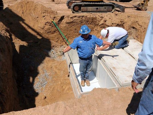 checking for damage fort stanton veterans cemetery