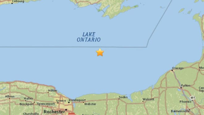 Location of a very small earthquake detected about 4 a.m. Friday.