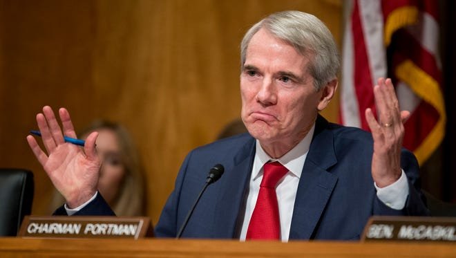 Sen. Rob Portman, R-Ohio, leads a subcommittee hearing on Capitol Hill on June 23, 2016.