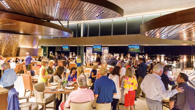 Guests enjoying the spectacular new clubhouse