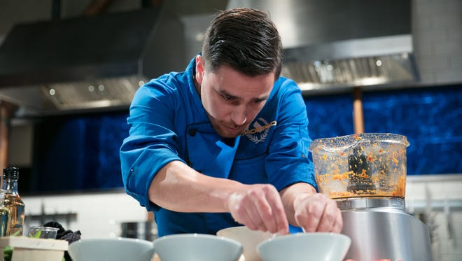 "Chef Griffin Paulin of Mirin restaurant will appear on Food Network's ""Chopped"" competition."