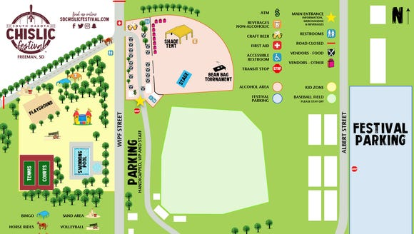 Event map for the South Dakota Chislic Festival on