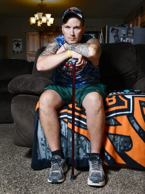 Keith Harper of Roseville was diagnosed with a malignant peripheral nerve sheath tumor in 2015. Earlier this year he underwent an operation to remove the grapefruit-sized tumor that also took part of his pelvis. The operation left his left leg more than an inch shorter than his right.