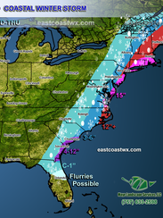 A diagram from the East Coast Weather Authority shows