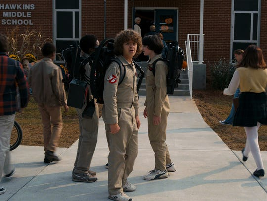 Gaten Matarazzo, center, returns as Dustin in the new season of Netflix's sci-fi hit 'Stranger Things.'