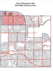 Rochester Hills issued a boil water alert Monday. This
