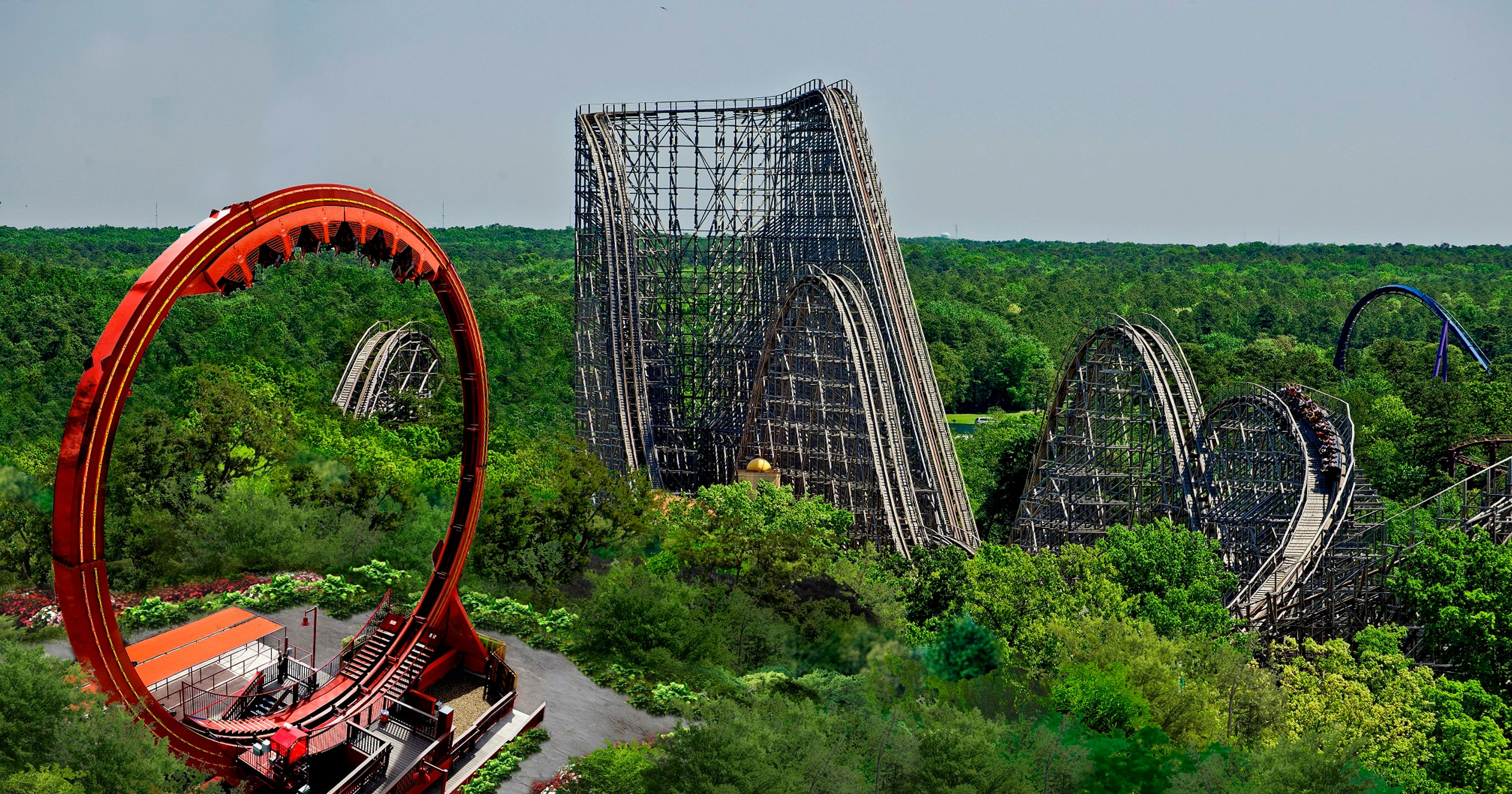 Six Flags Great Adventure reveals the Looping Dragon