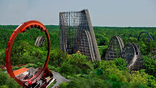 New Jersey's Six Flags Great Adventure amusement park has settled on a devilish theme for its new roller coaster.