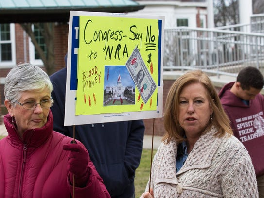 Shore area students and their supporters rallied in