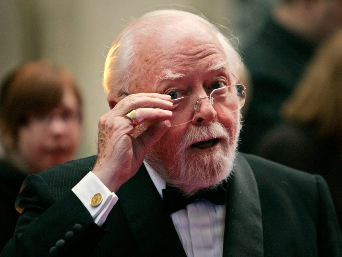 British actor and Oscar-winning director Richard Attenborough, whose film career on both sides of the camera spanned 60 years, died on Sunday, Aug. 24, 2014. He was 90.
