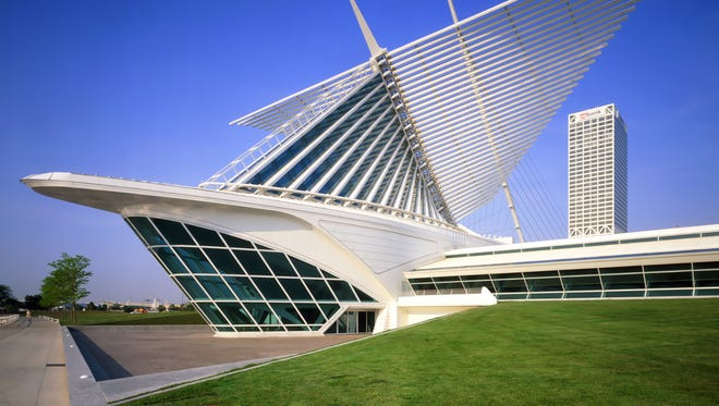 """The Milwaukee Art Museum"""" Quadracci Pavilion is a post-modern tribute to Europe's Gothic cathedrals."""