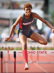 Last year, Princeton's Angel Gazaway claimed a state championship in the girls 300-meter hurdles Saturday, June 2, at the State Track and Field Championships at Jesse Owens Memorial Stadium.
