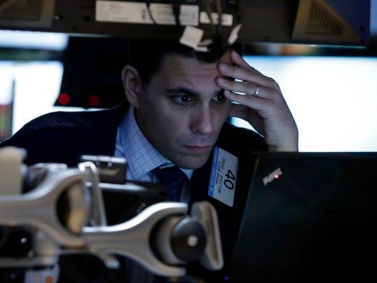 Trader studies market.