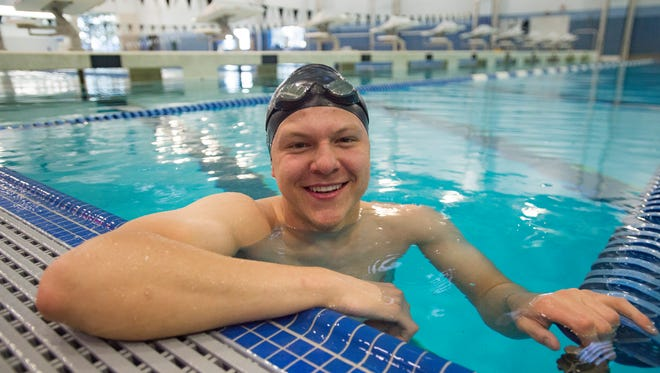 Fossil Ridge High School swimmer Danny Kovac is the state's top swimmer and is hoping to lead the SaberCats to their fourth straight team title next month.