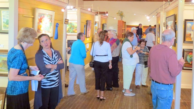 Visitors are invited to browse the artistic works at the Grant County Art Guild's Annual Purchase Prize Award Exhibit.