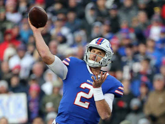 Nathan Peterman did extensive offseason training, but it might not be enough to make him the starter.