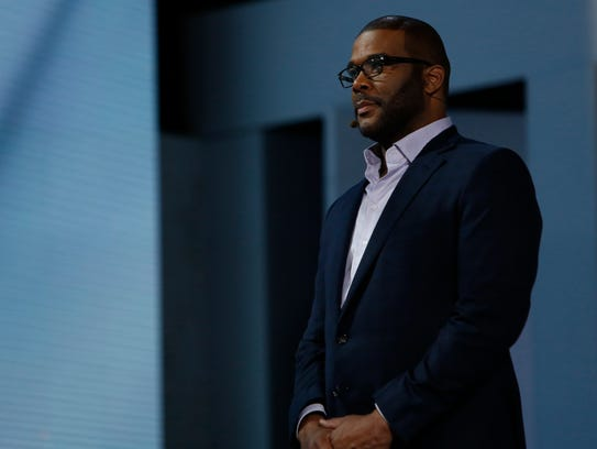 Tyler Perry, seen here during rehearsal, is narrator