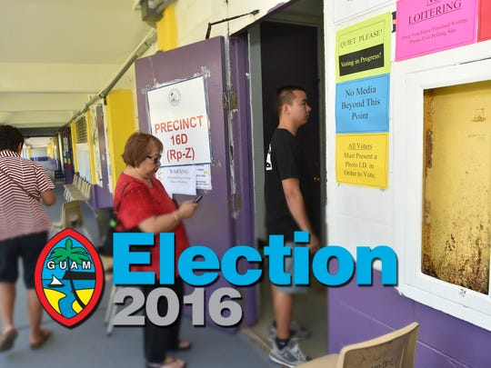 Guam's general election is on Nov. 8, 2016.